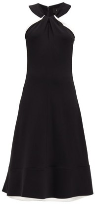 Proenza Schouler Halterneck Cady Dress - Black White