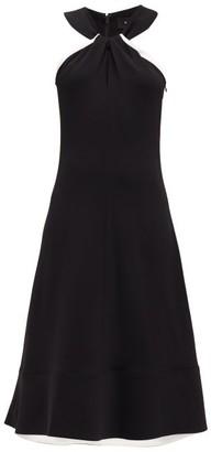 Proenza Schouler Halterneck Cady Dress - Womens - Black White