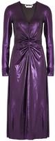 Rotate by Birger Christensen Number 7 Metallic Purple Stretch-jersey Midi Dress
