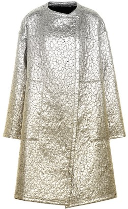 Dries Van Noten Metallic wool-blend coat