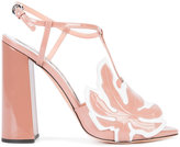 Rochas open toe sandals - women - Leather/Patent Leather - 37