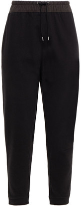 James Perse Cropped French Cotton-terry Track Pants