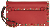 Valentino Rockstud Rolling small leather clutch