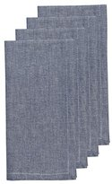 Now Designs Chambray Napkins, Set of Four, Navy Blue