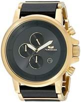 Vestal Unisex PLE040 Plexi Leather Analog Display Quartz Gold Watch