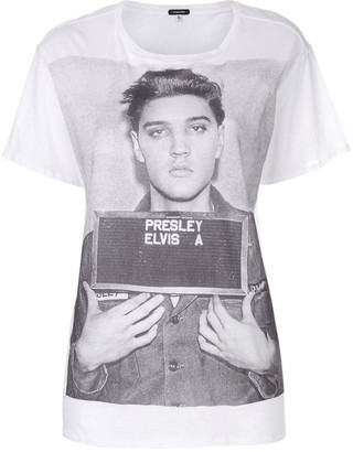 R 13 oversized Elvis mugshot T-shirt