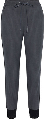 3.1 Phillip Lim Shirred Pinstriped Stretch-crepe Track Pants