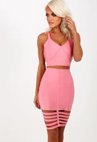 Pink Boutique Notorious Candy Pink Bandage Mini Skirt