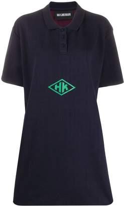 Han Kjobenhavn logo polo shirt dress