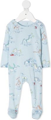 Stella McCartney Kids Horse Doodle-Print Pajamas