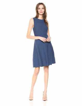 Anne Klein Women's Textured FIT and Flare Sweater DRES