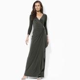 Ralph Lauren Embellished Jersey Gown