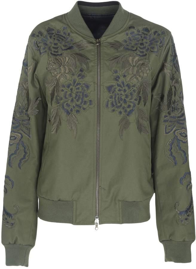 Dries Van Noten Floral Print Bomber Jacket