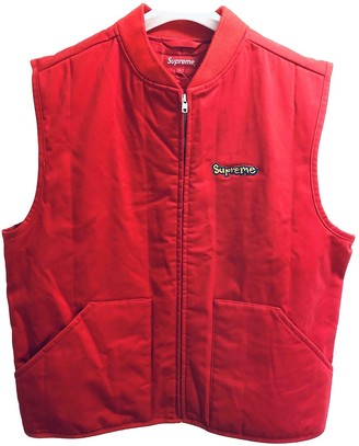 Supreme Red Synthetic Jackets