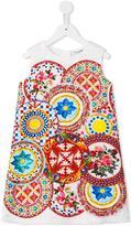 Dolce & Gabbana Carretto Con Rose dress - kids - Cotton/Viscose - 8 yrs