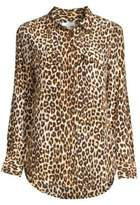 Equipment Slim Signature Silk Leopard-Print Shirt