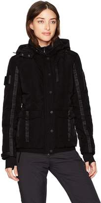 Blanc Noir Women's Two Face Down Coat with Hood