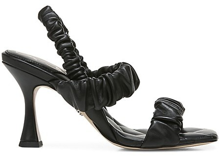 Thumbnail for your product : Sam Edelman Marlena Ruched Leather Slingback Sandals