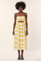Mara Hoffman Strapless Cutout Midi Dress