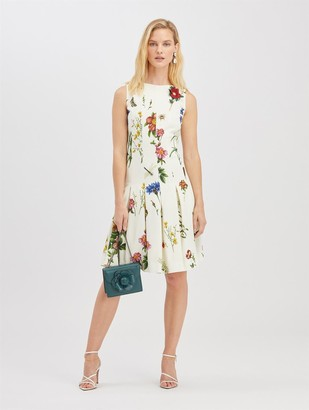 Oscar de la Renta Embroidered Cady Dress