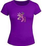 Browning Symbol Printed For Ladies Womens T-shirt Tee Tops