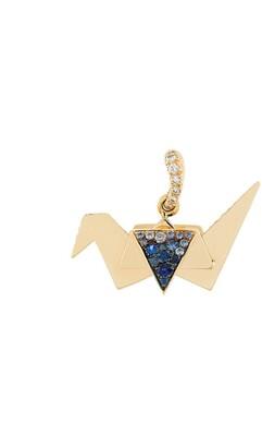 Aurelie Bidermann Origami sapphire and diamond pendant