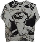 Munster Marble-Print Cotton-Blend Sweatshirt