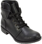 Women's Cliffs by White Mountain Nadelle Ankle Cuffed Combat Boot