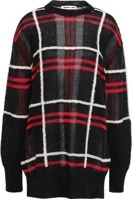 McQ Checked Linen-blend Jacquard Sweater