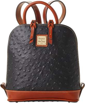 Dooney & Bourke Ostrich Small Zip Pod Backpack