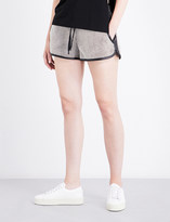KENDALL + KYLIE KENDALL & KYLIE Leather-trim cotton-twill shorts