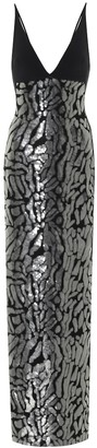 David Koma Exclusive to Mytheresa a Sequined crApe gown