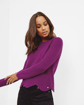 Ted Baker Scalloped edge ribbed sweater