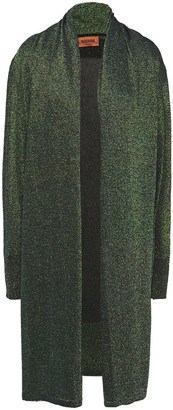 Missoni Draped Metallic Knitted Cardigan