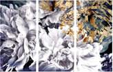 Oliver Gal Dos Gardenias Triptych (Acrylic)