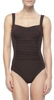 Karla Colletto Ruch-Front Underwire One-Piece, Chocolate