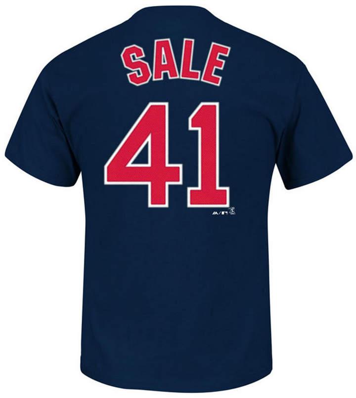 Majestic Men Chris Sale Boston Red Sox Official Player T-Shirt