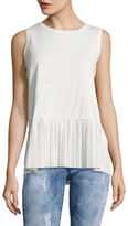 Tommy Hilfiger Sleeveless Pleated Hem Top