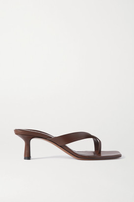Neous Florae Leather Mules