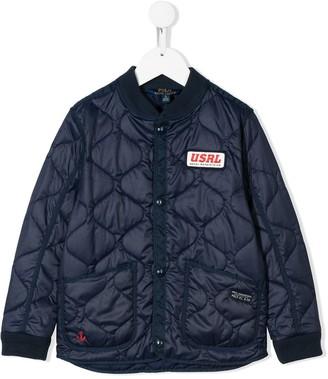 Ralph Lauren Kids quilted bomber jacket