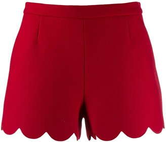 RED Valentino Scalloped Hem Shorts