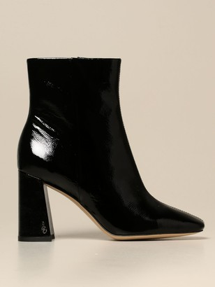 Sam Edelman Ankle Boot In Synthetic Grain Patent Leather