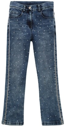 MonnaLisa Stretch Denim Jeans W/ Embellishments