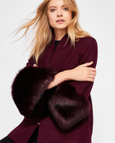 Ted Baker Wool and faux fur coat