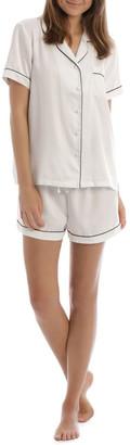 Chloe & Lola Satin Basics Short Sleeve PJ Set