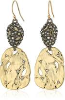 Alexis Bittar Fall 2017 Pave Pod and Rocky Disk Wire Drop Earrings
