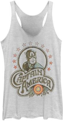 Marvel Juniors' Captain America Retro Stars Tank Top