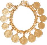 Ben-Amun Gold-tone charm bracelet