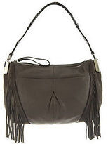 B. Makowsky As Is Pebble Leather Zip Top Shoulder Bag