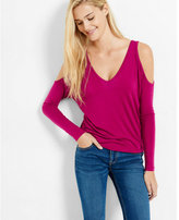 Express one eleven strappy cold shoulder tee